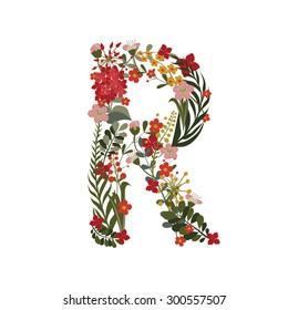 Flower Letter R Hd Stock Images Shutterstock