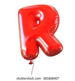 letter R balloon font