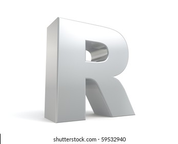 letter R in metal