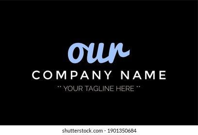 Letter RUO logo icon design illustration  for your business. Initial logo design, geometric logo. Creative Modern Monogram alphabet. Company Logo Idea with tagline space.