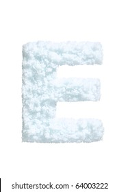 Letter from snow style alphabet. Isolated on white background. With clipping path.