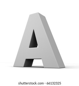 Letter A from solid alphabet. There is a clipping path