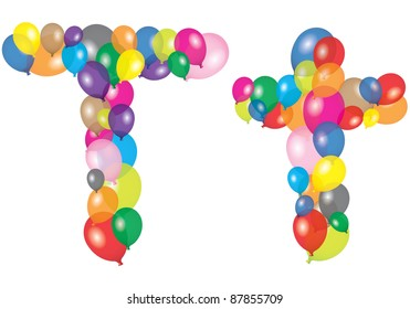 letter t like a balloon
