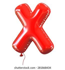 letter X balloon font