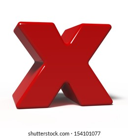 letter x isolated on white background