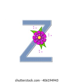 The Letter Z In Alphabet Set Denim Dandy Is Filled With