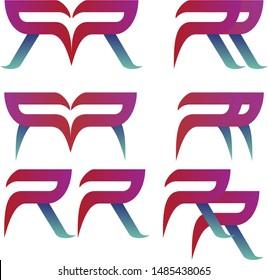 Lettering Double R Logo Design