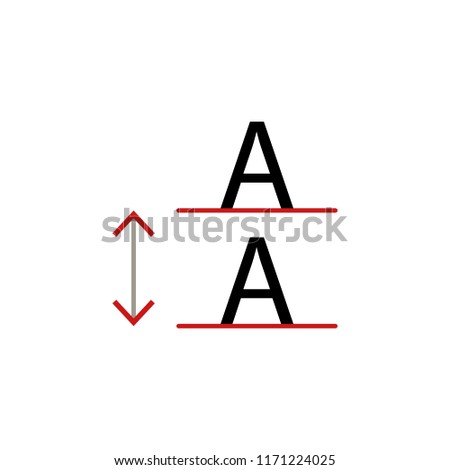 lettering space icon element text editor stock illustration