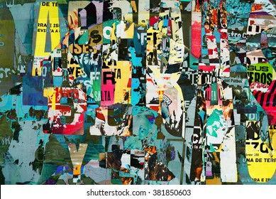 Letters collage background or typography texture digital design