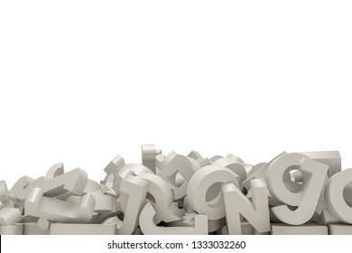 letters isolated on white background 3d illustration