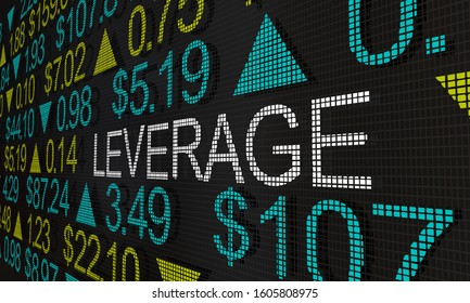 Leverage Stock Trading Financing Marginal Share Trades 3d Illustration