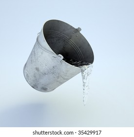 Levitating bucket full of water