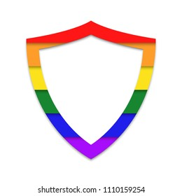 LGBT private life protection shield  icon.