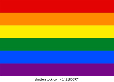 LGBTQ flag for background,Accurate dimensions, element proportions and colors.