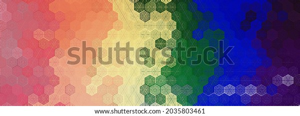 LGBTQ pride month concept design to raising awareness for lgbt rights. Rainbow pride flag colors background for placard, t shirt, cards, floor tiles, carpets, towel, flyer, bedsheet, textile printing