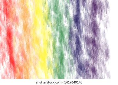 LGBTQ rainbow paint pride symbol  on white background