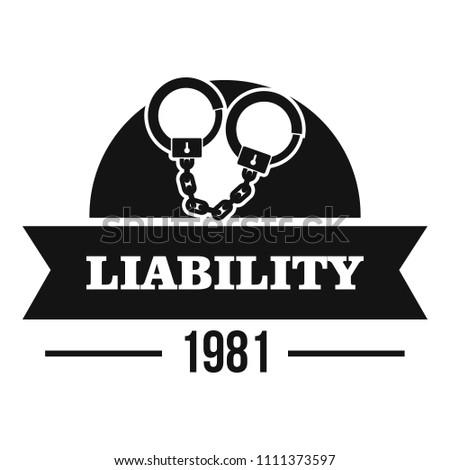 liability logo simple illustration liability logo stock illustration