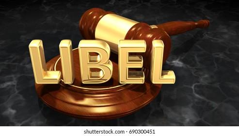 Libel Law Concept 3D Illustration