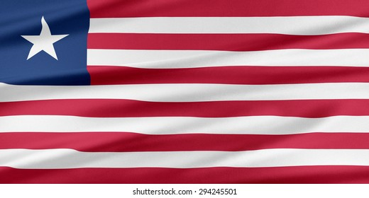 Liberia Flag. Flag with a beautiful glossy silk texture.