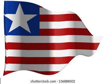 Liberia. Liberian flag