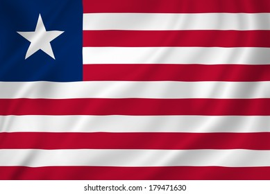Liberia national flag background texture.