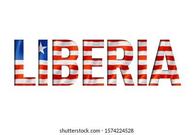 liberian flag text font. liberia symbol background