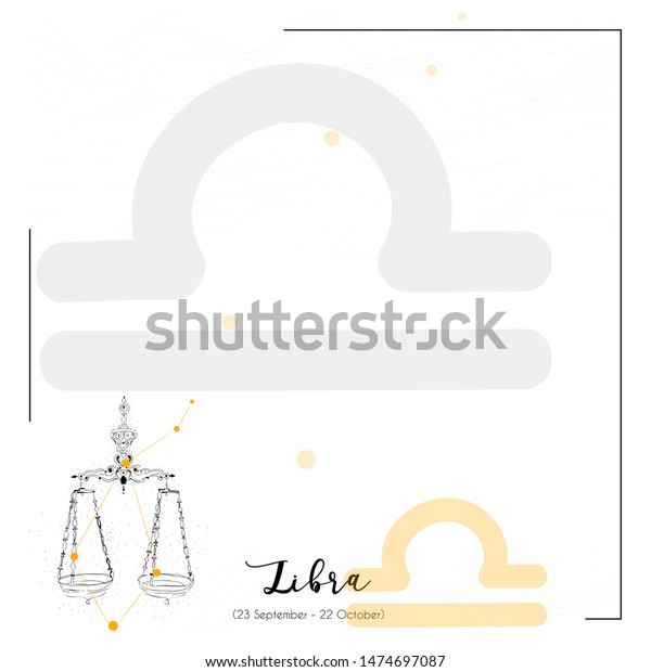 Libra Horoscope Quotes Background Social Media Stock ...