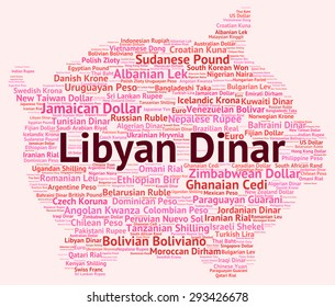 Libyan Dinar Meaning Foreign Currency And Wordcloud