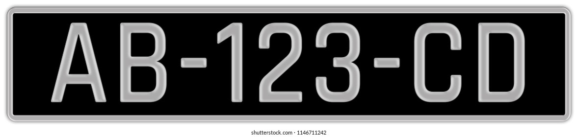 License Plate for Cars and Trucks in France