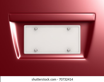 License Plate with clipping path