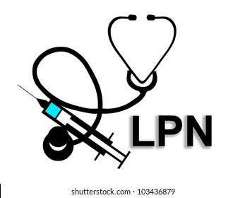 Licensed Practical Nurse LPN - illustration / icon isolated on white background