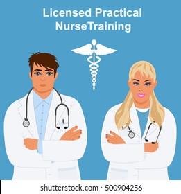licensed practical nurse training concept,