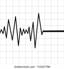 Lie detector test icon. Abstract diagram