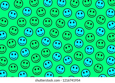 Life backdrop. Flat template. Throng including multiple smileys.