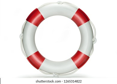 Life buoy isolated on white with clipping path. 3d render