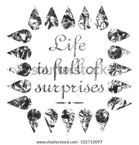 Life Full Surprises Motivational Quote Background Stock Illustration