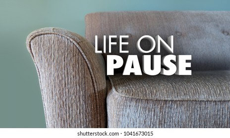 Life on Pause Take Break Holiday Time Off Couch 3d Illustration