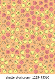 Life theme. High definition pattern. Throng with multiple moods.