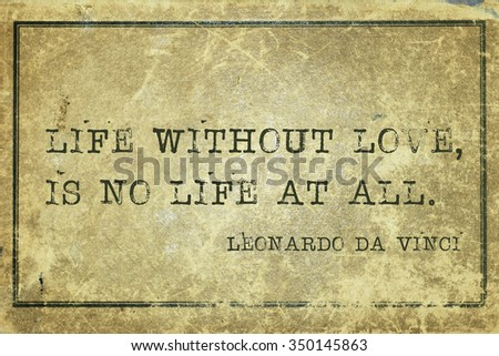 Life Without Love No Life All Stock Illustration 350145863