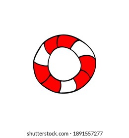 Lifebuoy. Drawn color picture. illustration.