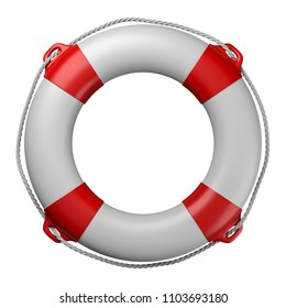 Lifebuoy Isolated on White Background 3D Illustration