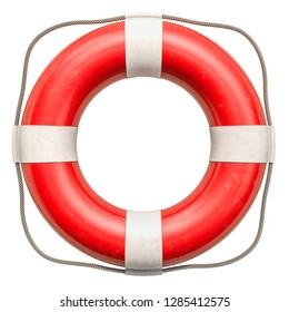 Lifebuoy or lifebelt, 3D rendering isolated on white background