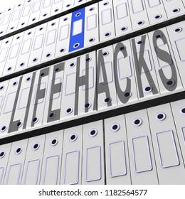Lifehack Secret Smarter Efficient Hacks 3d Rendering Shows Tips And Solutions For Solving Life Problems