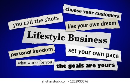 Lifestyle Business Newspaper Headlines 3d Illustration
