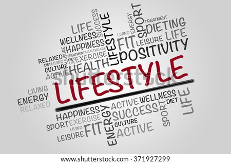 63461519ce226 ... Stock Illustration 371927299 - Shutterstock. Lifestyle word cloud,  fitness, sport, health concept