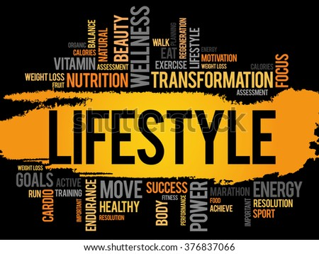 fdf1e78876242 LIFESTYLE word cloud, fitness, sport, health concept - Illustration