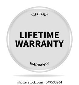 lifetime warranty icon. Internet button.3d illustration