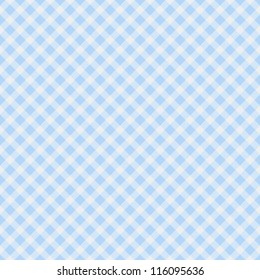 A light blue gingham fabric  background that is seamless