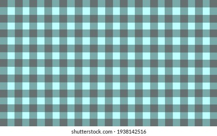 Light blue gray turquoise vintage checkered background. Space for graphic design. Checkered texture. Classic checkered geometric pattern. Traditional ornament from colored square elements.