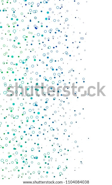 Light Blue, Green vertical  template with circles. Illustration with set of shining colorful abstract circles. The pattern can be used for beautiful websites.